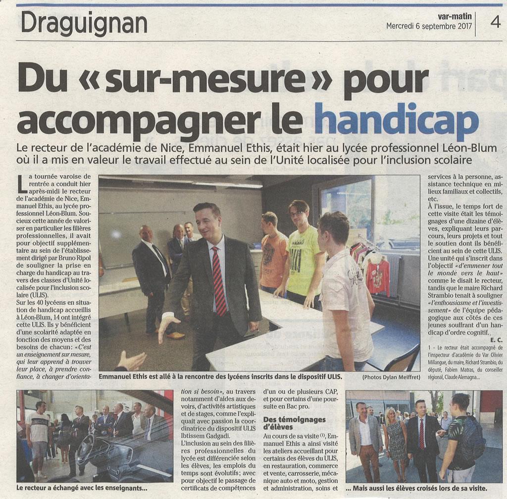 Revue de presse du 6 septembre 2017