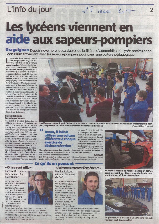 Revue de presse du 28 mars 2017